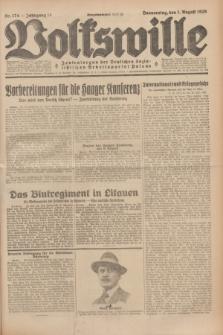 Volkswille : Zentralorgan der Deutschen Sozialistischen Arbeitspartei Polens. Jg.14, Nr. 174 (1 August 1929) + dod.