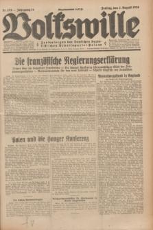 Volkswille : Zentralorgan der Deutschen Sozialistischen Arbeitspartei Polens. Jg.14, Nr. 175 (2 August 1929) + dod.