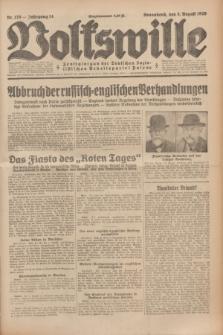 Volkswille : Zentralorgan der Deutschen Sozialistischen Arbeitspartei Polens. Jg.14, Nr. 176 (3 August 1929) + dod.