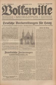 Volkswille : Zentralorgan der Deutschen Sozialistischen Arbeitspartei Polens. Jg.14, Nr. 177 (4 August 1929) + dod.