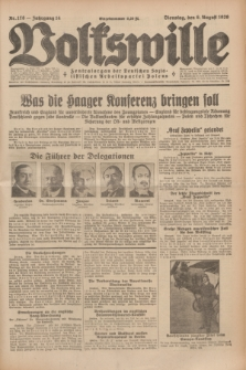 Volkswille : Zentralorgan der Deutschen Sozialistischen Arbeitspartei Polens. Jg.14, Nr. 178 (6 August 1929) + dod.