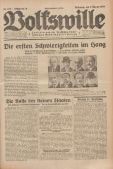 Volkswille : Zentralorgan der Deutschen Sozialistischen Arbeitspartei Polens. Jg.14, Nr. 179 (7 August 1929) + dod.