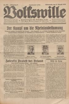 Volkswille : Zentralorgan der Deutschen Sozialistischen Arbeitspartei Polens. Jg.14, Nr. 182 (10 August 1929) + dod.