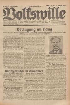 Volkswille : Zentralorgan der Deutschen Sozialistischen Arbeitspartei Polens. Jg.14, Nr. 185 (14 August 1929) + dod.