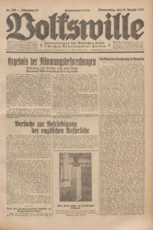 Volkswille : Zentralorgan der Deutschen Sozialistischen Arbeitspartei Polens. Jg.14, Nr. 186 (15 August 1929) + dod.