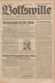 Volkswille : Zentralorgan der Deutschen Sozialistischen Arbeitspartei Polens. Jg.14, Nr. 187 (17 August 1929) + dod.