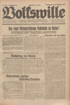 Volkswille : Zentralorgan der Deutschen Sozialistischen Arbeitspartei Polens. Jg.14, Nr. 189 (20 August 1929) + dod.