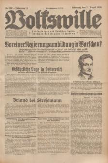Volkswille : Zentralorgan der Deutschen Sozialistischen Arbeitspartei Polens. Jg.14, Nr. 190 (21 August 1929) + dod.