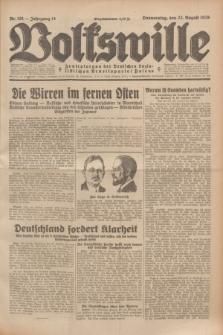 Volkswille : Zentralorgan der Deutschen Sozialistischen Arbeitspartei Polens. Jg.14, Nr. 191 (22 August 1929) + dod.