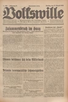 Volkswille : Zentralorgan der Deutschen Sozialistischen Arbeitspartei Polens. Jg.14, Nr. 192 (23 August 1929) + dod.