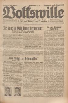 Volkswille : Zentralorgan der Deutschen Sozialistischen Arbeitspartei Polens. Jg.14, Nr. 193 (24 August 1929) + dod.