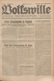 Volkswille : Zentralorgan der Deutschen Sozialistischen Arbeitspartei Polens. Jg.14, Nr. 194 (25 August 1929) + dod.