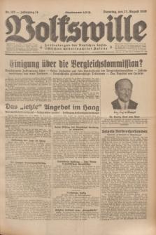 Volkswille : Zentralorgan der Deutschen Sozialistischen Arbeitspartei Polens. Jg.14, Nr. 195 (27 August 1929) + dod.