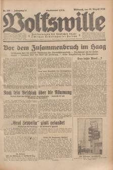 Volkswille : Zentralorgan der Deutschen Sozialistischen Arbeitspartei Polens. Jg.14, Nr. 196 (28 August 1929) + dod.