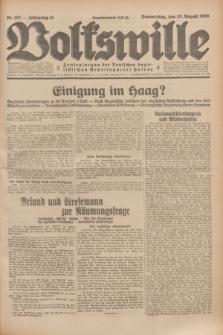 Volkswille : Zentralorgan der Deutschen Sozialistischen Arbeitspartei Polens. Jg.14, Nr. 197 (29 August 1929) + dod.