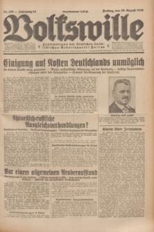 Volkswille : Zentralorgan der Deutschen Sozialistischen Arbeitspartei Polens. Jg.14, Nr. 198 (30 August 1929) + dod.