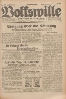 Volkswille : Zentralorgan der Deutschen Sozialistischen Arbeitspartei Polens. Jg.14, Nr. 199 (31 August 1929) + dod.