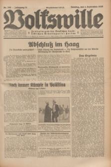 Volkswille : Zentralorgan der Deutschen Sozialistischen Arbeitspartei Polens. Jg.14, Nr. 200 (1 September 1929) + dod.