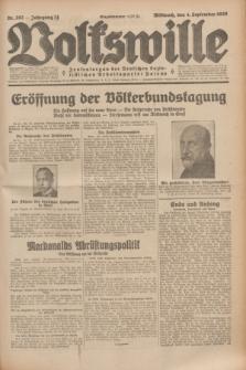 Volkswille : Zentralorgan der Deutschen Sozialistischen Arbeitspartei Polens. Jg.14, Nr. 202 (4 September 1929) + dod.