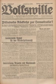 Volkswille : Zentralorgan der Deutschen Sozialistischen Arbeitspartei Polens. Jg.14, Nr. 204 (6 September 1929) + dod.