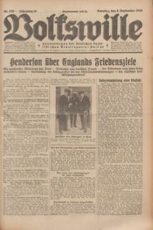 Volkswille : Zentralorgan der Deutschen Sozialistischen Arbeitspartei Polens. Jg.14, Nr. 206 (8 September 1929) + dod.