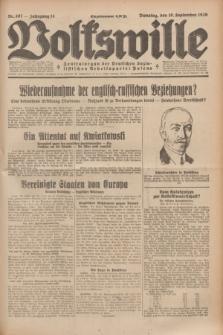 Volkswille : Zentralorgan der Deutschen Sozialistischen Arbeitspartei Polens. Jg.14, Nr. 207 (10 September 1929) + dod.