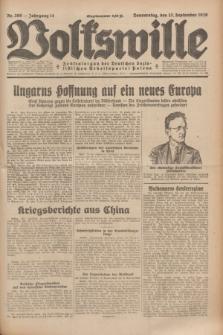 Volkswille : Zentralorgan der Deutschen Sozialistischen Arbeitspartei Polens. Jg.14, Nr. 209 (12 September 1929) + dod.