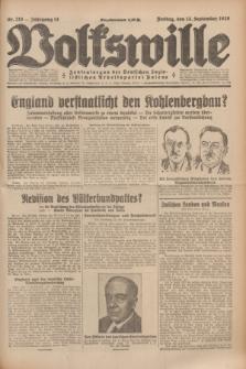 Volkswille : Zentralorgan der Deutschen Sozialistischen Arbeitspartei Polens. Jg.14, Nr. 210 (13 September 1929) + dod.