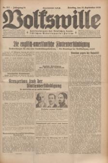 Volkswille : Zentralorgan der Deutschen Sozialistischen Arbeitspartei Polens. Jg.14, Nr. 212 (15 September 1929) + dod.