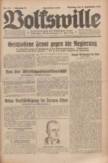 Volkswille : Zentralorgan der Deutschen Sozialistischen Arbeitspartei Polens. Jg.14, Nr. 213 (17 September 1929) + dod.