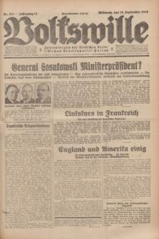 Volkswille : Zentralorgan der Deutschen Sozialistischen Arbeitspartei Polens. Jg.14, Nr. 214 (18 September 1929) + dod.