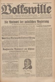 Volkswille : Zentralorgan der Deutschen Sozialistischen Arbeitspartei Polens. Jg.14, Nr. 215 (19 September 1929) + dod.