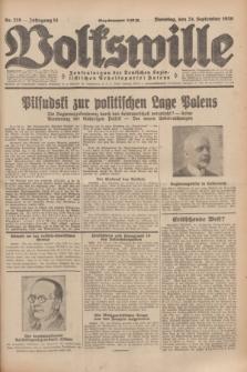 Volkswille : Zentralorgan der Deutschen Sozialistischen Arbeitspartei Polens. Jg.14, Nr. 219 (24 September 1929) + dod.