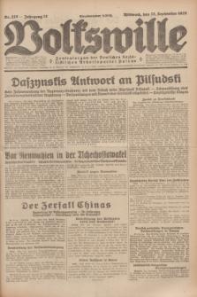 Volkswille : Zentralorgan der Deutschen Sozialistischen Arbeitspartei Polens. Jg.14, Nr. 220 (25 September 1929) + dod.