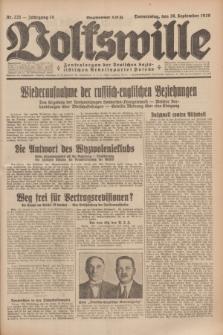 Volkswille : Zentralorgan der Deutschen Sozialistischen Arbeitspartei Polens. Jg.14, Nr. 221 (26 September 1929) + dod.