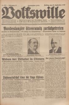 Volkswille : Zentralorgan der Deutschen Sozialistischen Arbeitspartei Polens. Jg.14, Nr. 222 (27 September 1929) + dod.