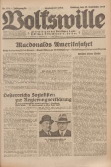 Volkswille : Zentralorgan der Deutschen Sozialistischen Arbeitspartei Polens. Jg.14, Nr. 224 (29 September 1929) + dod.