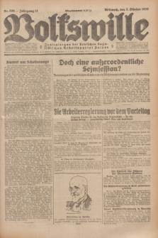 Volkswille : Zentralorgan der Deutschen Sozialistischen Arbeitspartei Polens. Jg.14, Nr. 226 (2 Oktober 1929) + dod.