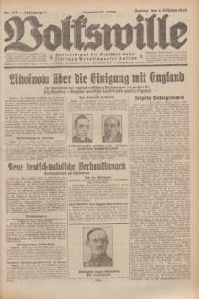 Volkswille : Zentralorgan der Deutschen Sozialistischen Arbeitspartei Polens. Jg.14, Nr. 228 (4 Oktober 1929) + dod.