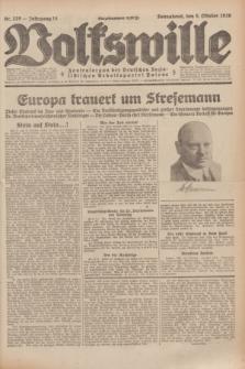 Volkswille : Zentralorgan der Deutschen Sozialistischen Arbeitspartei Polens. Jg.14, Nr. 229 (5 Oktober 1929) + dod.