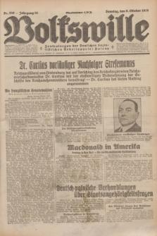 Volkswille : Zentralorgan der Deutschen Sozialistischen Arbeitspartei Polens. Jg.14, Nr. 230 (6 Oktober 1929) + dod.