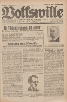 Volkswille : Zentralorgan der Deutschen Sozialistischen Arbeitspartei Polens. Jg.14, Nr. 232 (9 Oktober 1929) + dod.