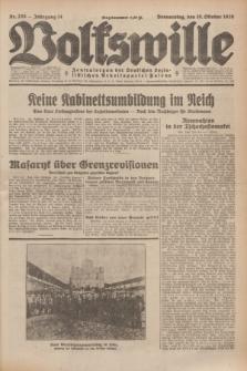 Volkswille : Zentralorgan der Deutschen Sozialistischen Arbeitspartei Polens. Jg.14, Nr. 233 (10 Oktober 1929) + dod.
