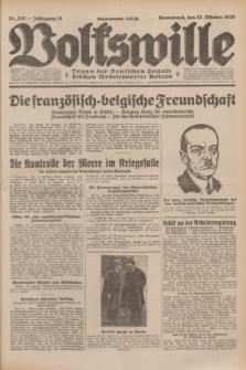 Volkswille : Organ der Deutschen Sozialistischen Arbeitspartei Polens. Jg.14, Nr. 235 (12 Oktober 1929) + dod.