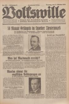 Volkswille : Organ der Deutschen Sozialistischen Arbeitspartei Polens. Jg.14, Nr. 236 (13 Oktober 1929) + dod.