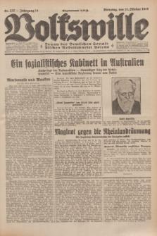 Volkswille : Organ der Deutschen Sozialistischen Arbeitspartei Polens. Jg.14, Nr. 237 (15 Oktober 1929) + dod.