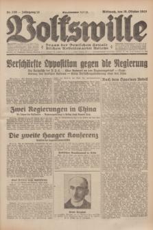 Volkswille : Organ der Deutschen Sozialistischen Arbeitspartei Polens. Jg.14, Nr. 238 (16 Oktober 1929) + dod.