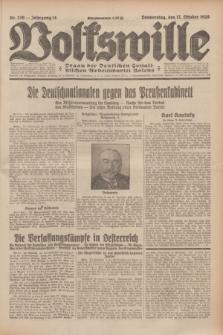 Volkswille : Organ der Deutschen Sozialistischen Arbeitspartei Polens. Jg.14, Nr. 239 (17 Oktober 1929) + dod.