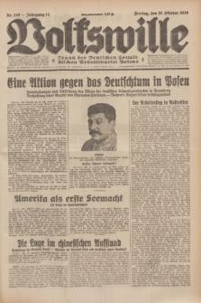 Volkswille : Organ der Deutschen Sozialistischen Arbeitspartei Polens. Jg.14, Nr. 240 (18 Oktober 1929) + dod.