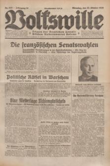 Volkswille : Organ der Deutschen Sozialistischen Arbeitspartei Polens. Jg.14, Nr. 243 (22 Oktober 1929) + dod.